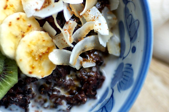 Black Rice and Chia Pudding - Homespun Capers