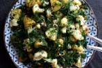 Roasted Cauliflower and Potato Salad with Lemon and Dill | An easy side salad that's bright and zesty - vegan, paleo, vegetarian