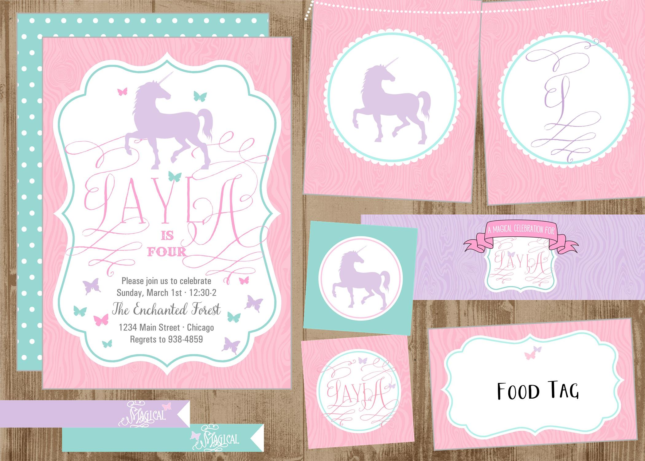 free printable unicorn party invitations wedding invitation ideas