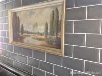 Concrete Subway Tile Backsplash  Home Spun Style