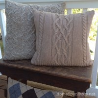Sweater Pillows, Candle Cozies and More!  Home Spun Style