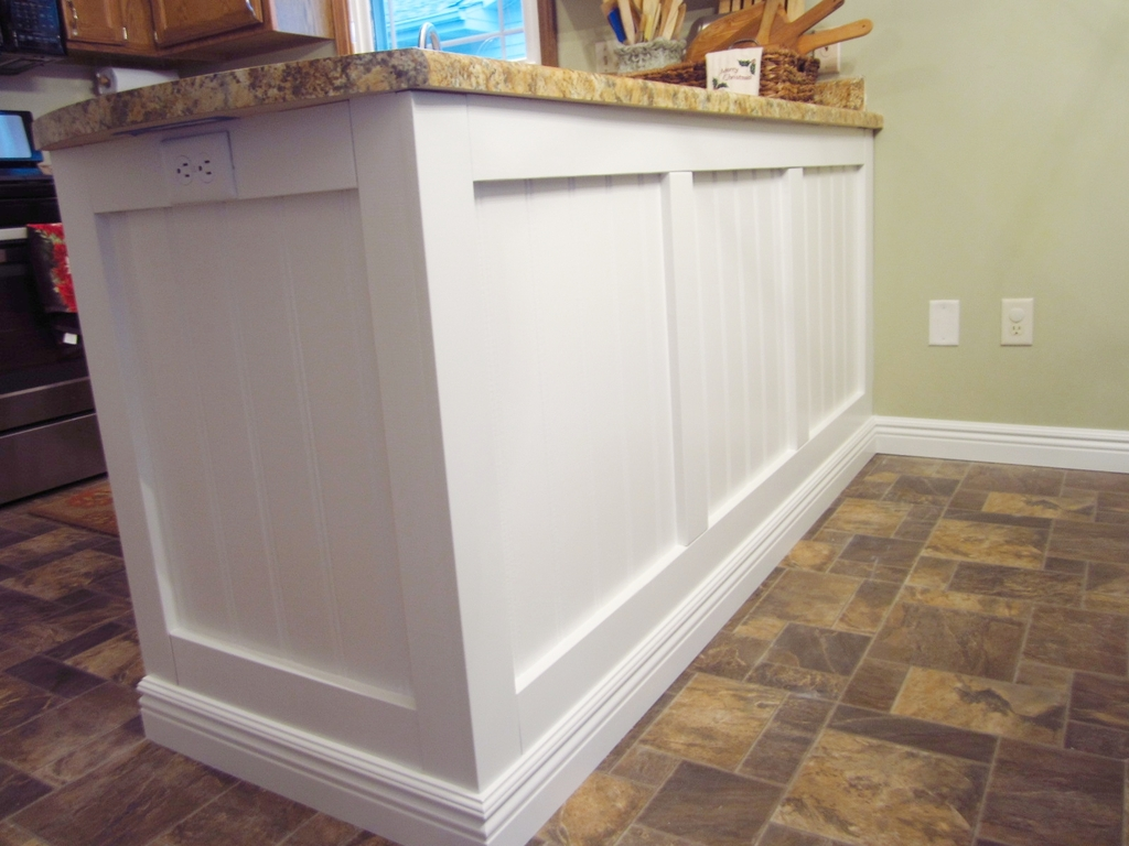 how to trim out a kitchen island peninsula home staging in diy kitchen peninsula upgrade [ 1024 x 768 Pixel ]