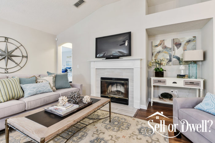 spring decorating home staging