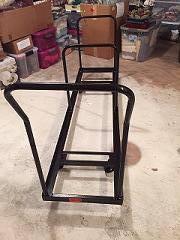 folding chair racks diy mesh mid back rolling art cart homestagingnewswire com dolly