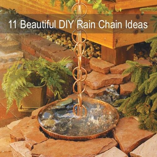 11 Beautiful Diy Rain Chain Ideas Homestead Amp Survival