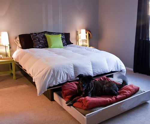DIY Platform Bed With A Roll Out Dog Bed  Homestead  Survival