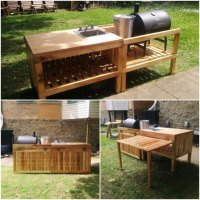 DIY Backyard Kitchen Made From Reclaimed Materials