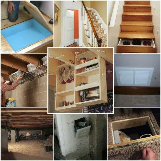 15 Under Home Hidden Storage Ideas