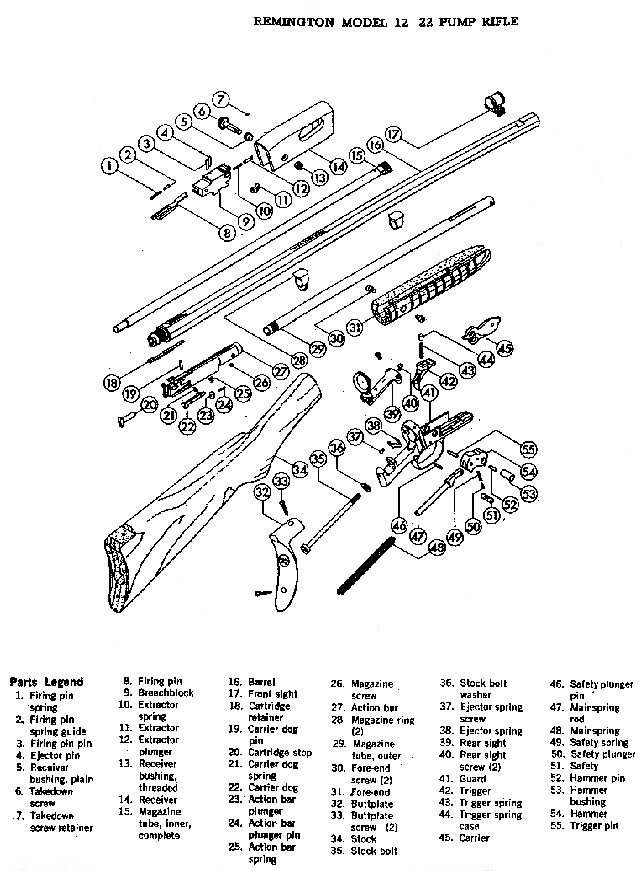 Remington Model 12 Parts Picture