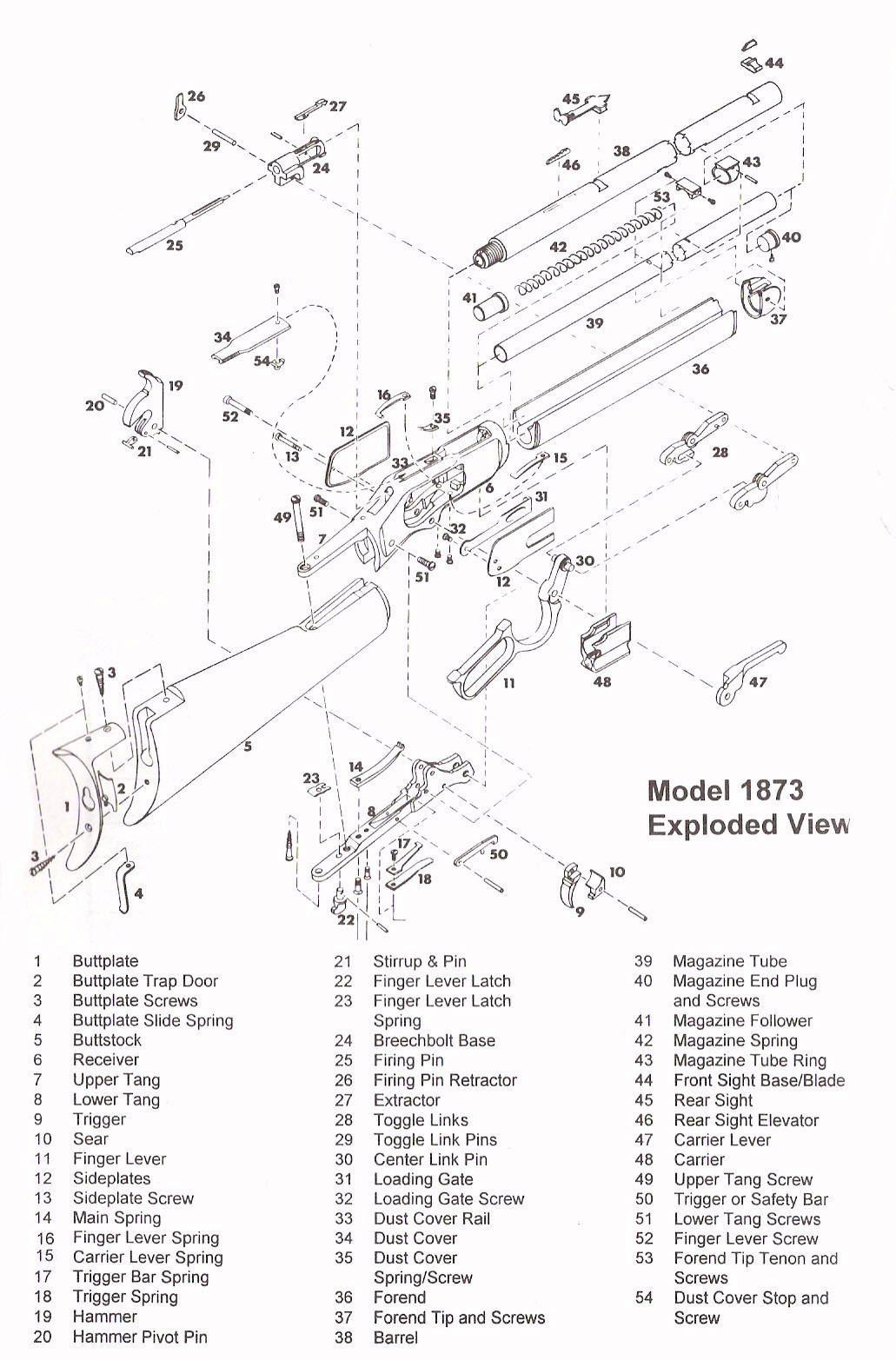 Winchester Parts Diagram