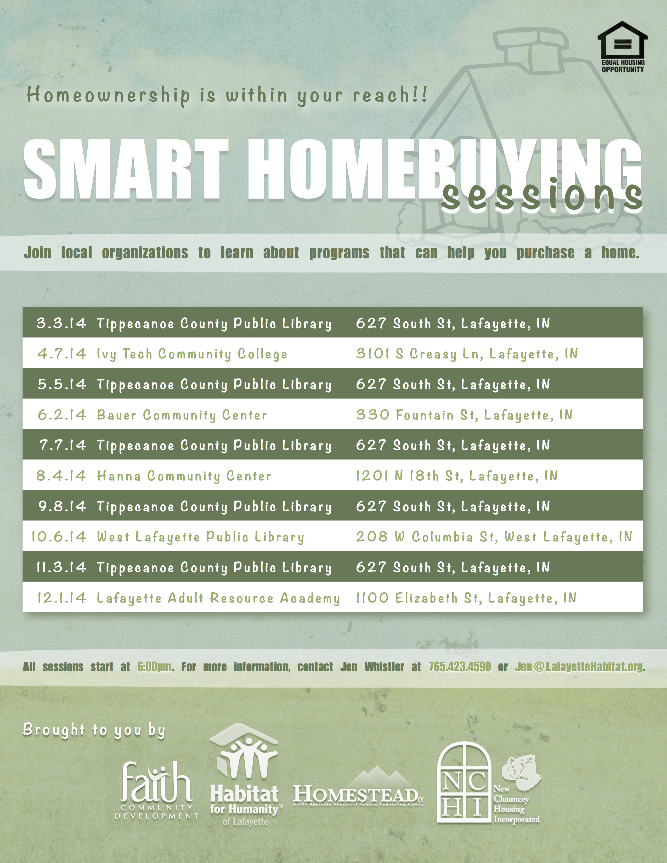Smart Homebuying Sessions put homeownership within your reach!
