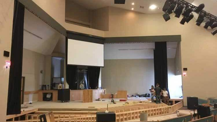 church auditorium commercial enovation