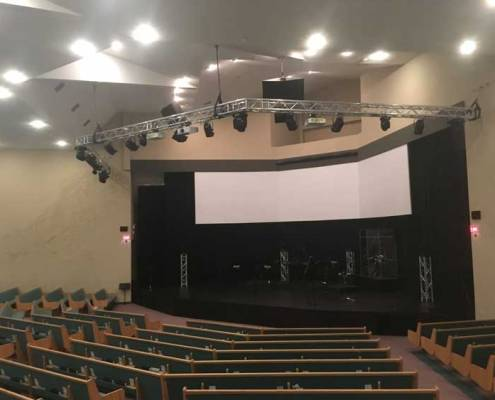 completed auditorium of church renovation in red deer