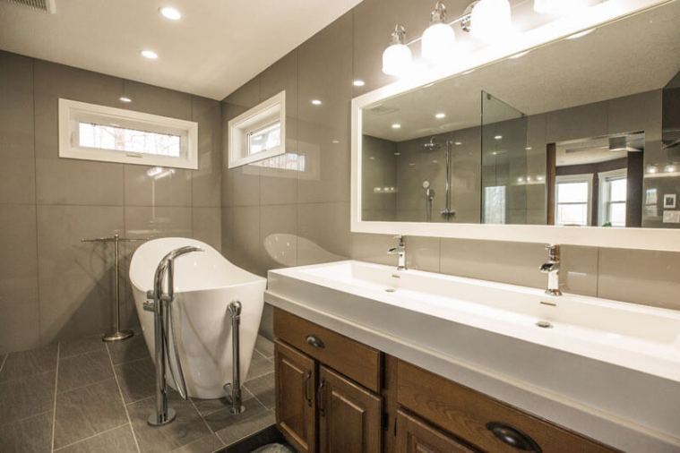 Custom luxury bathroom renovations Red Deer | Homestead Custom Carpentry