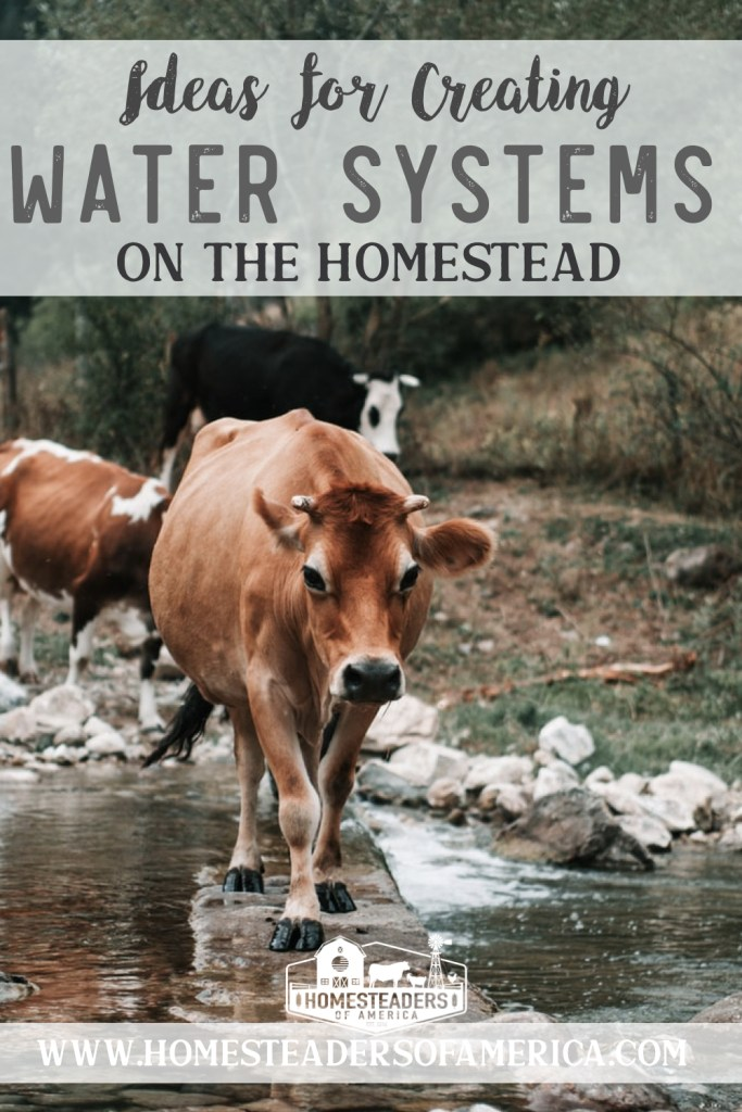 Ideas for Creating Water Systems on the Homestead  #homesteading #water #joelsalatin
