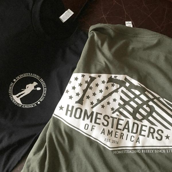 1776 Homesteading Freely T Shirt