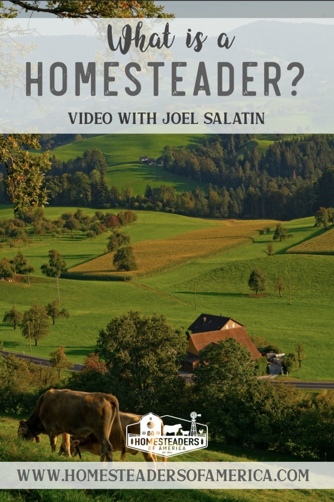 What is a Homesteader? Video with Joel Salatin of Polyface Farm