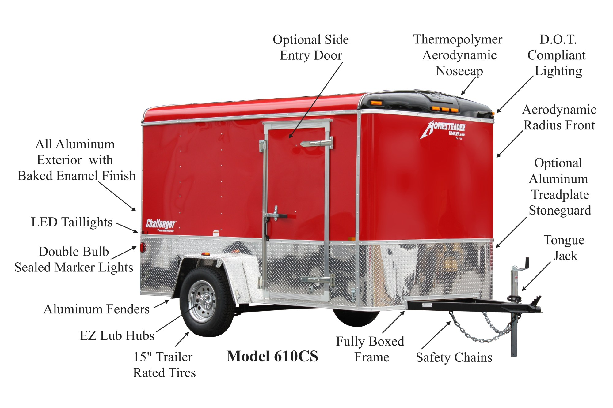hight resolution of 610cs red 10 cropped1 challenger enclosed cargo trailers homesteader trailers trailer lights wiring diagram at