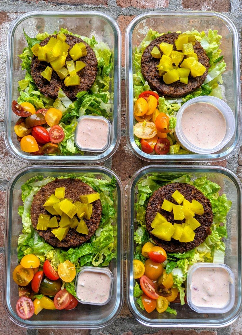 mcdonalds meal prep big mac salad recipes with vegan big mac sauce dressing homemade vegetarian 21 day fix recipes
