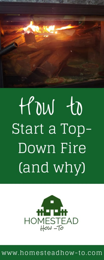 How to start a top-down fire PIN