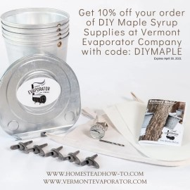 supplies for how to tap a maple tree available at Vermont Evaporator Company