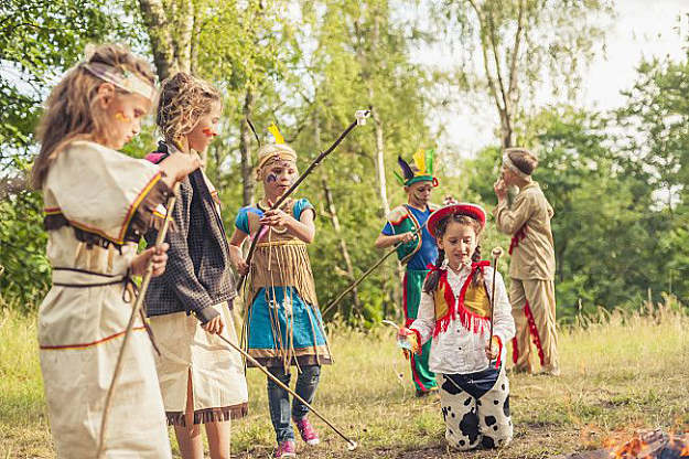 Playing Dress Up | 15 Classical Fun Family Activities Around The Campfire