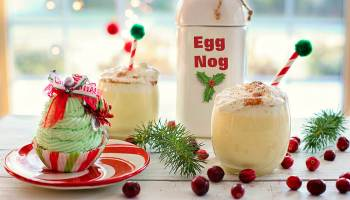 Eggnog Christmas drink | Delightful Christmas Drinks & Holiday Cocktails | christmas drinks for kids | Featured