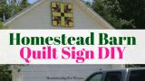 Homestead Barn Quilt Sign DIY