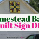 Homestead Barn Quilt Sign Great Farmhouse Decor DIY Project
