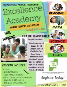 Excellence Academy Flyer
