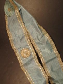 Masonic sash belonging to David or William H. Workman, mid-1800s.