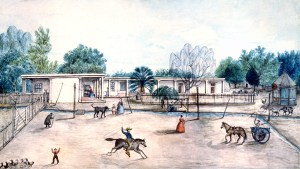 Drawing of Rancho La Merced, 1890s.