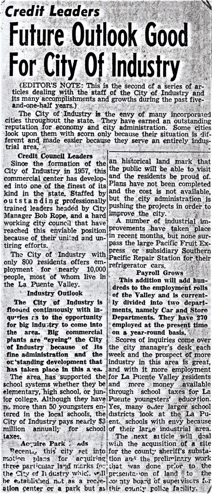 COI article 1963