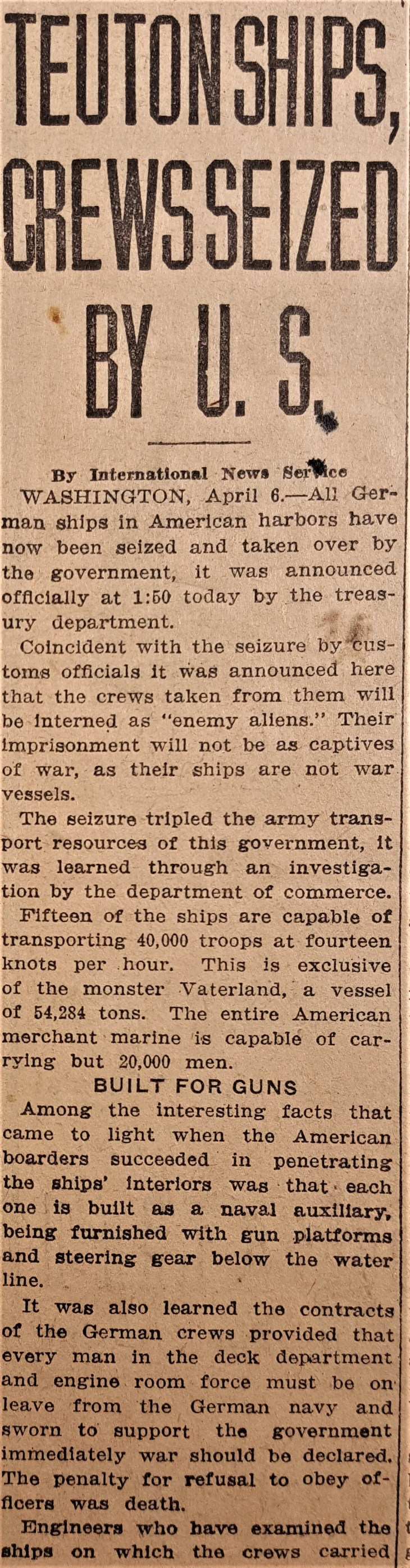 Herald German Ships seized 6Apr17