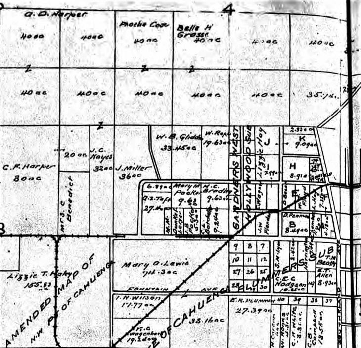 Hollywood area map Hodgson