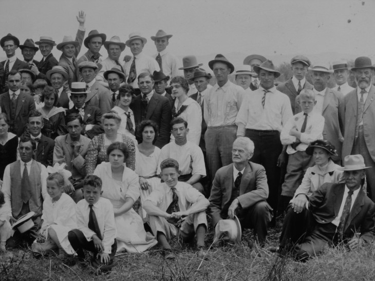 Adrian Temple others Temple barbeque 1917