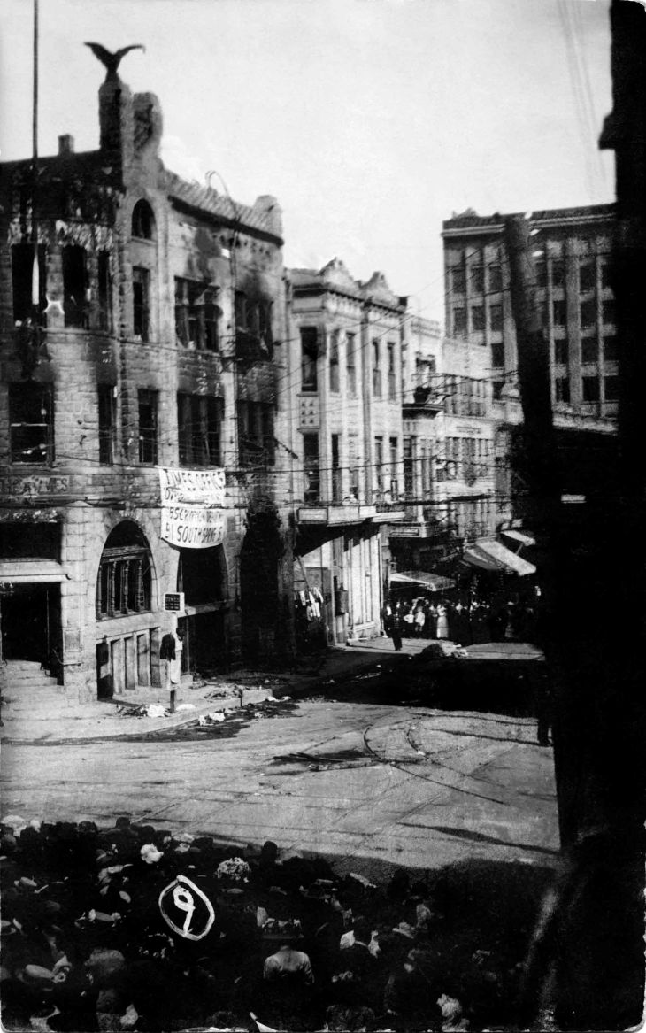 RPPC Los Angeles Times Building After Bombing 2011.319.1.1
