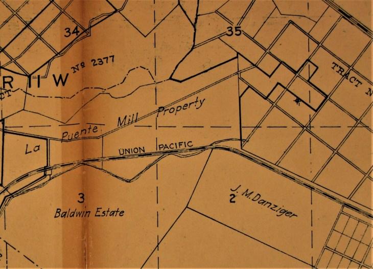 Avocado Heights area 1924 map