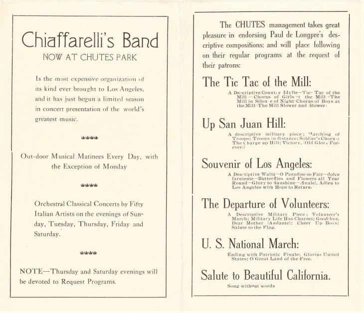 Chutes Park music program inside