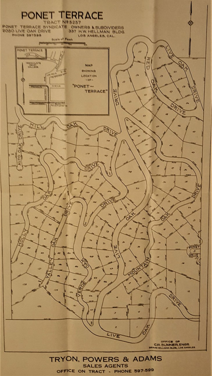 Ponet Terrace Tract Map 1