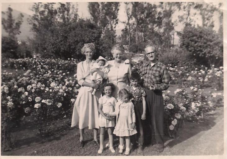 Adolf wife and family 1950s