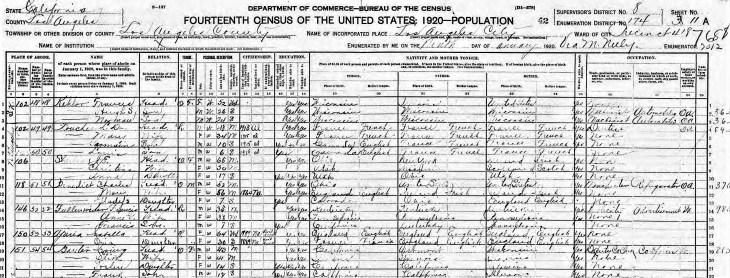 Isabella Oria 1920 census better