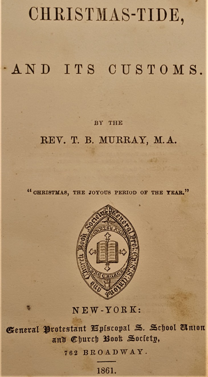 Christmas-Tide title page 1861