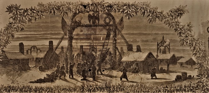 Union soldiers Christmas 1863