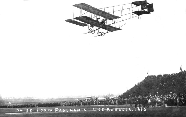 RPPC No 32 Louis Paulhan At Los Angeles 1910 2012.698.1.1