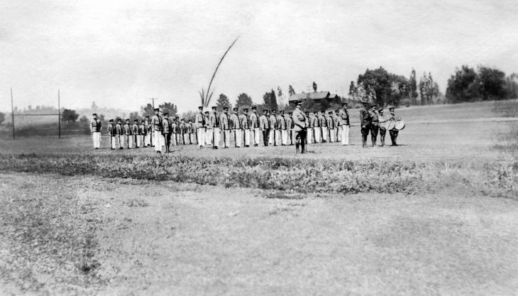Pasadena Military Academy Temple Boys in Formation 96.34.1.47