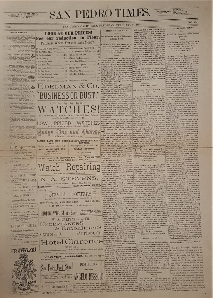 San Pedro Times cover