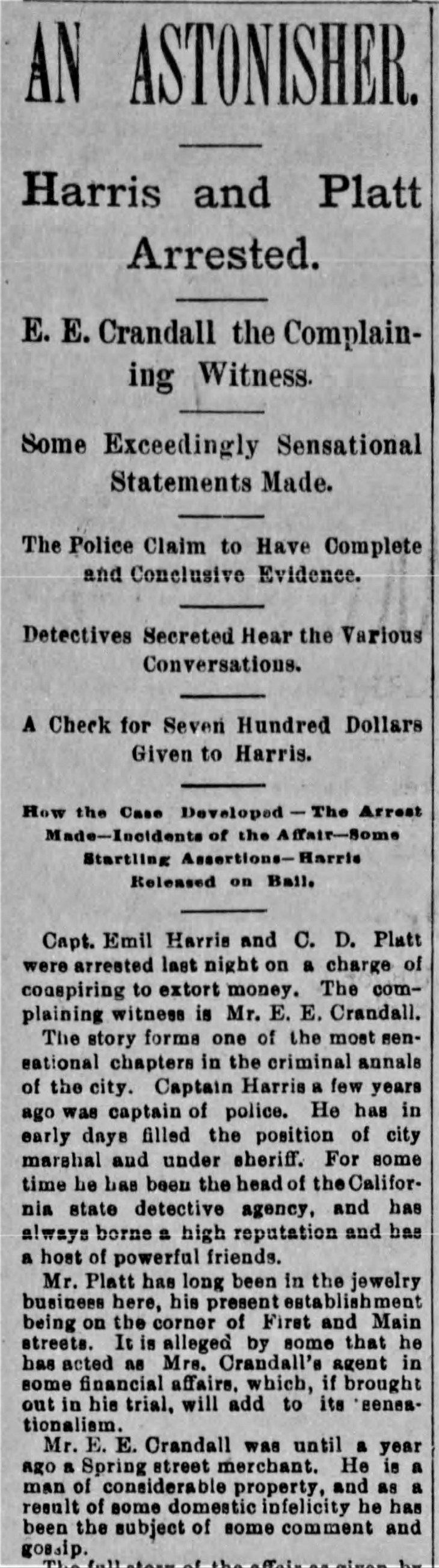Harris arrested Herald_Mar_27__1894_