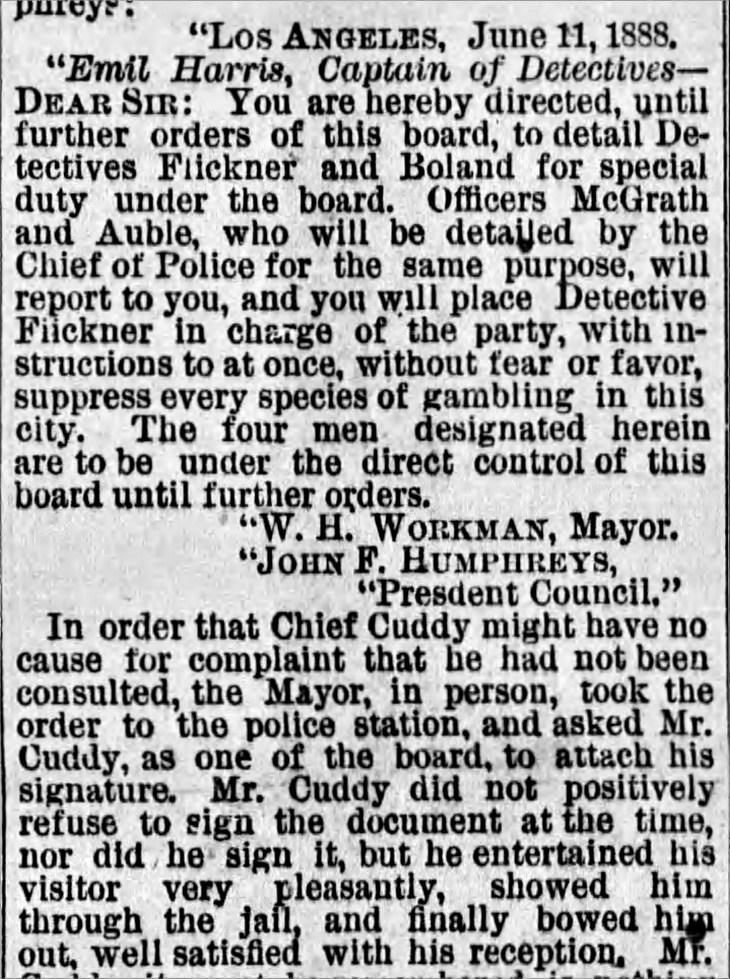 Harris order from Workman Times_Jun_12__1888_