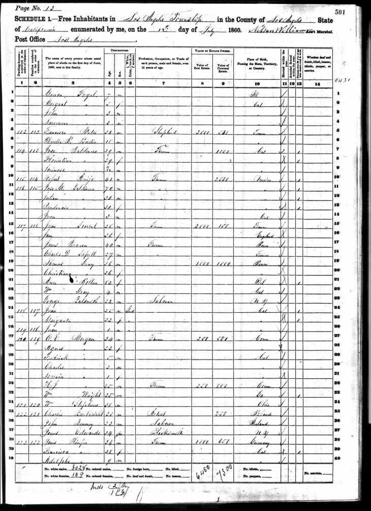 Rimpau 1860 census LA